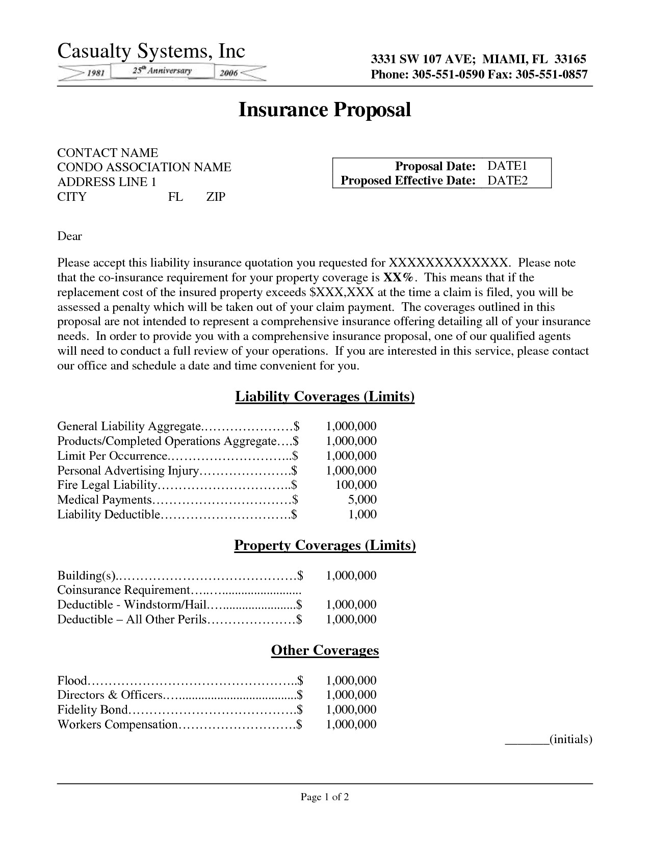 post insurance business proposal sample 343336