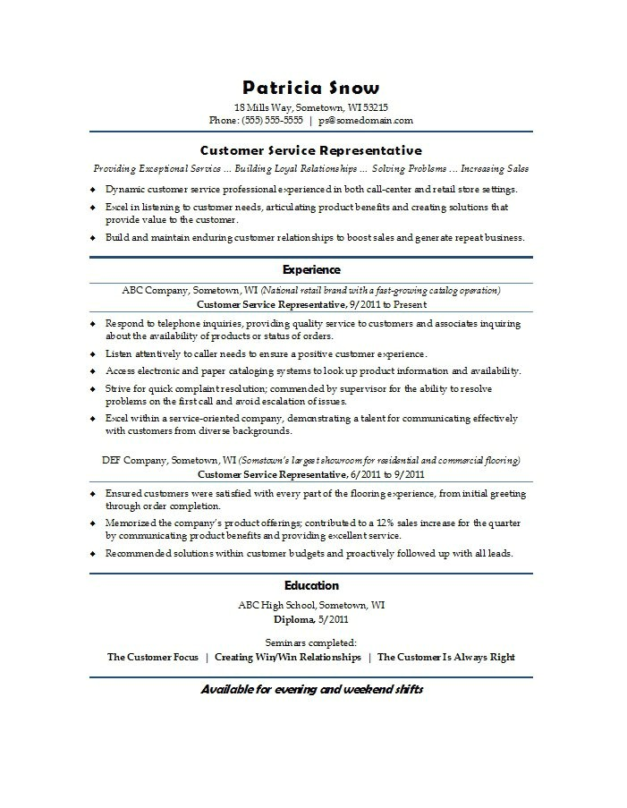 Free Customer Service Resume Templates 31 Free Customer Service Resume Examples Free Template