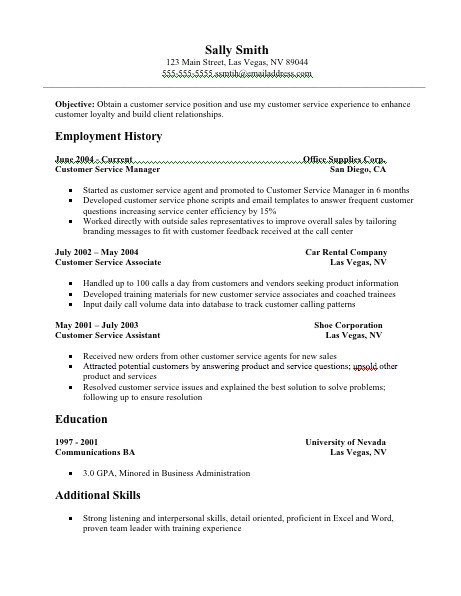 customer service resume examples resume 22