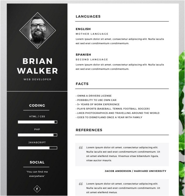 10 fashion resume cv templates for free download
