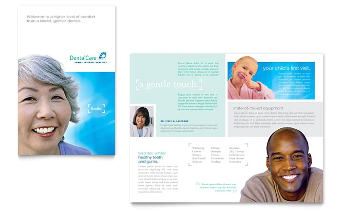 dental care brochure template design md0090101