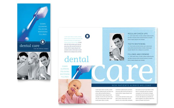 dentist office brochure template design md0010101