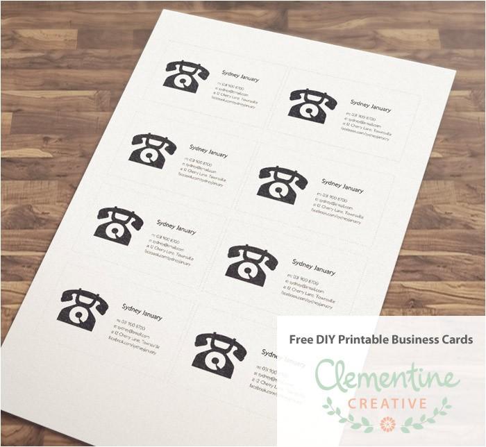 Free Diy Business Card Templates Free Diy Printable Business Card Template