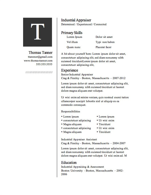Free Download Resume Templates for Microsoft Word 12 Resume Templates for Microsoft Word Free Download Primer