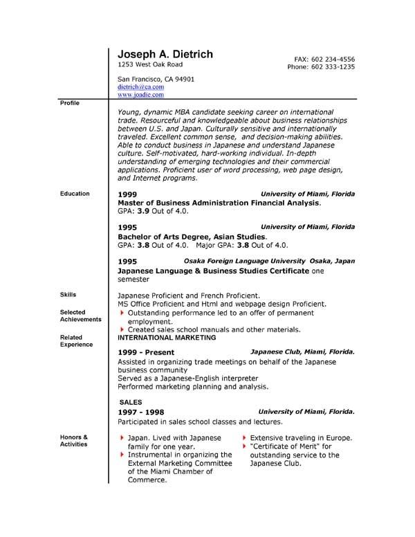 Free Download Resume Templates Microsoft Word 85 Free Resume Templates Free Resume Template Downloads
