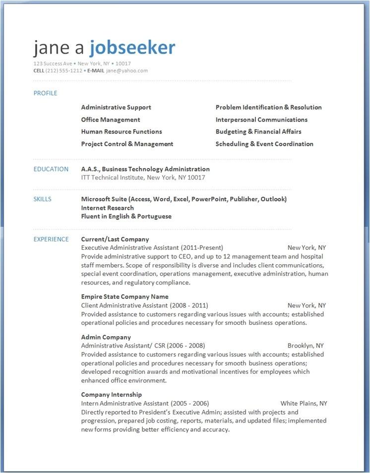 word 2013 resume templates