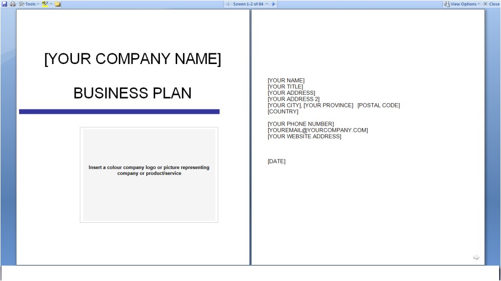 business plan templates free download 717
