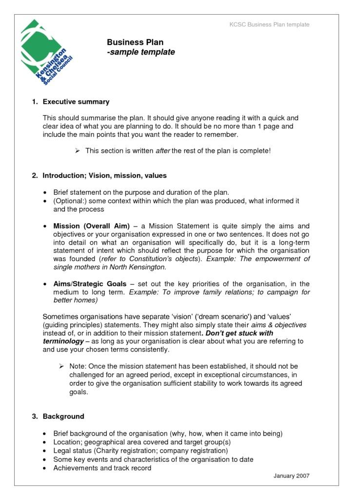 business plan sample templates