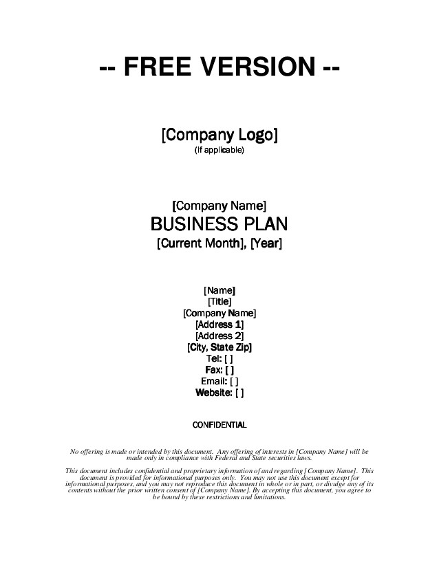 growthink business plan template
