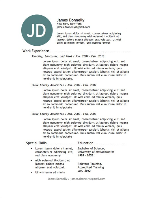Free Downloadable Resume Template 12 Resume Templates for Microsoft Word Free Download Primer