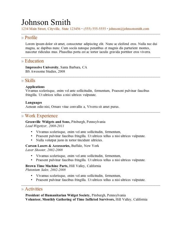 best resume templates cv layout free