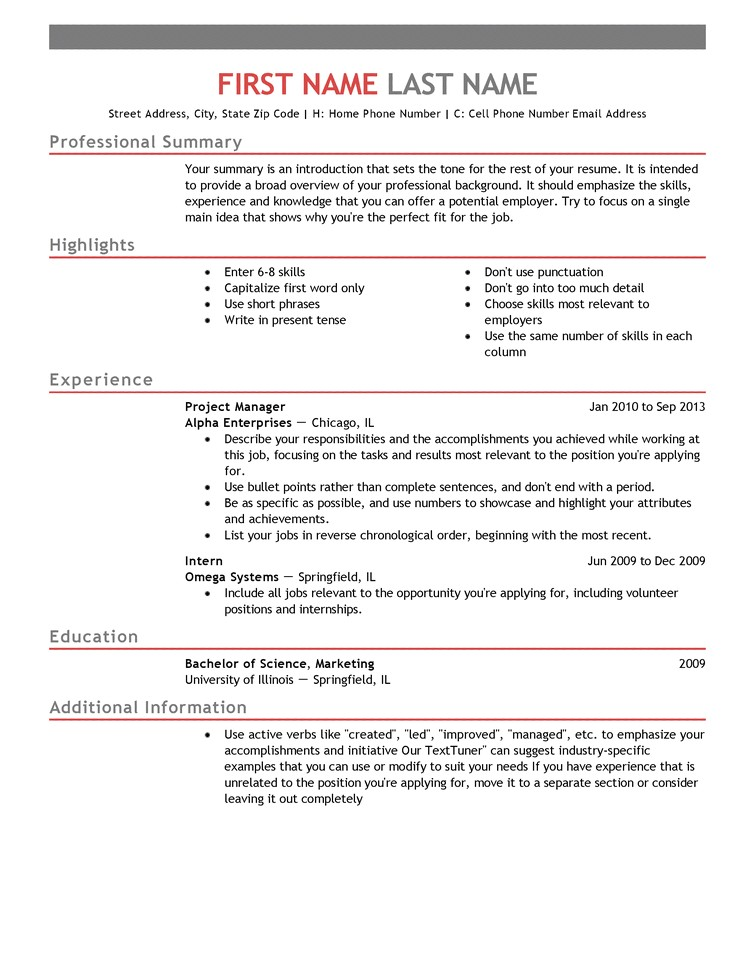 Free Entry Level Resume Templates Entry Level Resume Templates to Impress Any Employer