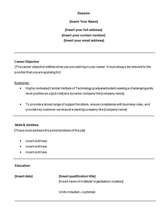 Free Entry Level Resume Templates for Word 6 Customer Service Resume Templates Pdf Doc Free