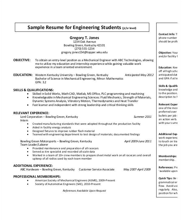 Free Entry Level Resume Templates for Word Entry Level Mechanical Engineering Resume Best Resume