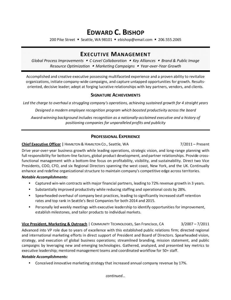 Free Executive Resume Templates Executive Resume Template 31 Free Word Pdf Indesign