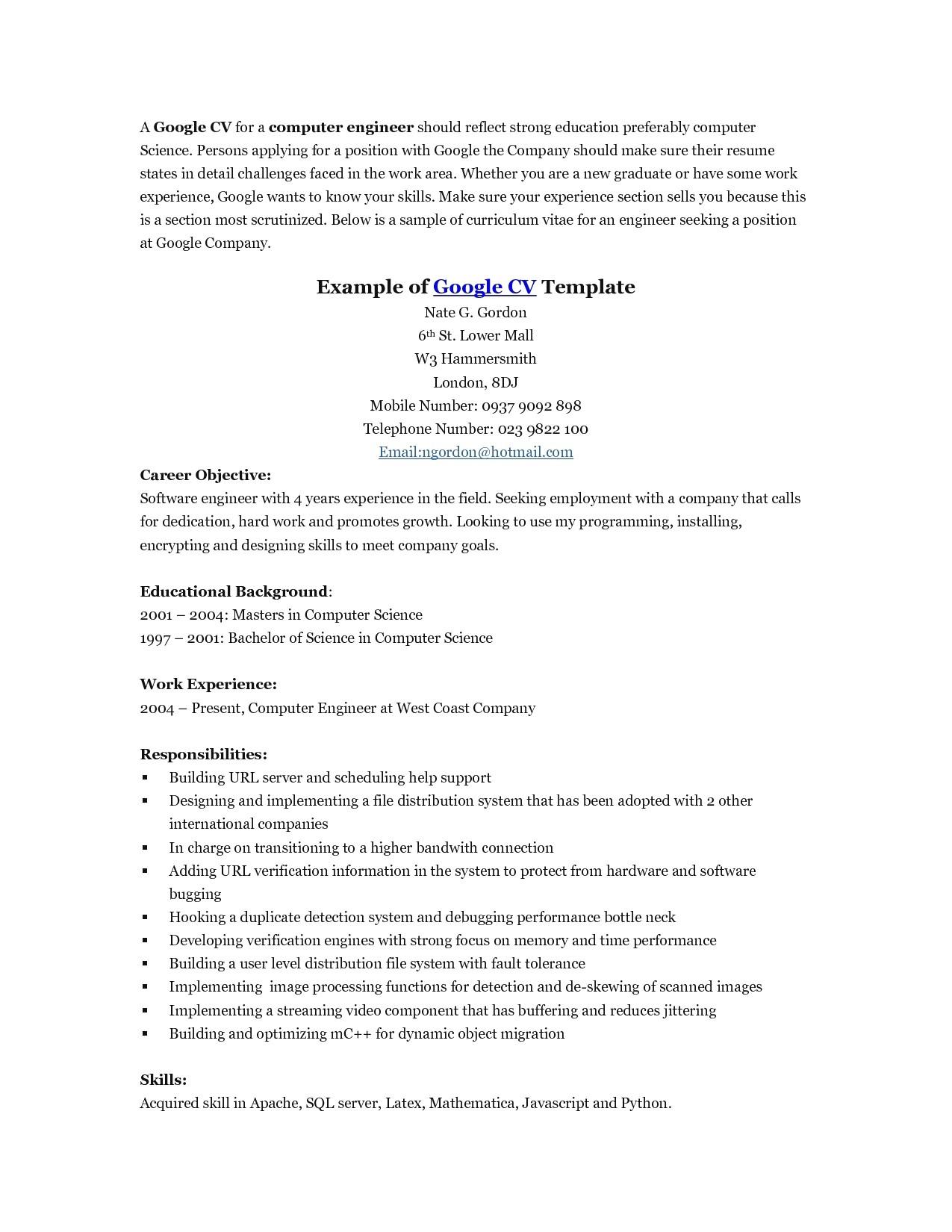 Free Google Resume Templates 14 Awesome Google Docs Resume Template Free Resume