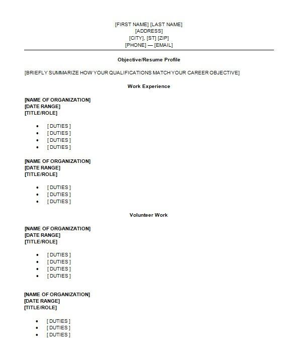 Free High School Resume Templates High School Student Resume Templates