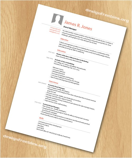 free indesign templates simple and clean resume cv with cover letter