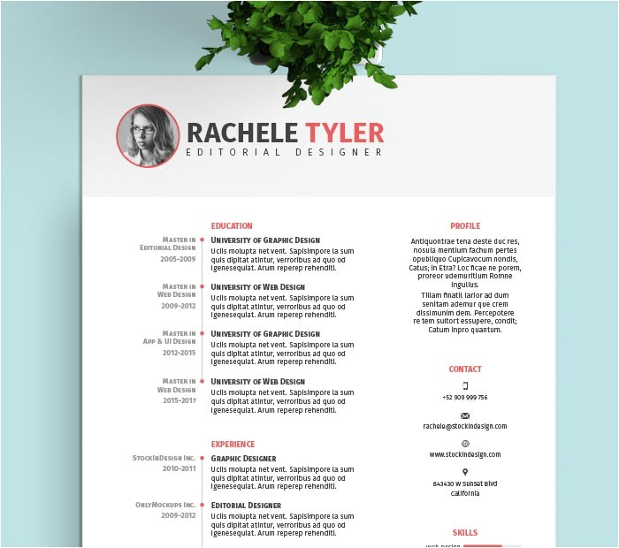 Free Indesign Template Resume Free Indesign Resume Template Stockindesign