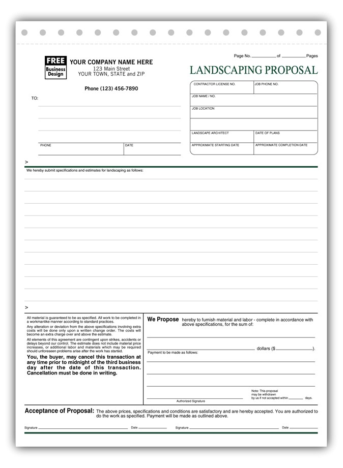 5568 landscaping proposal