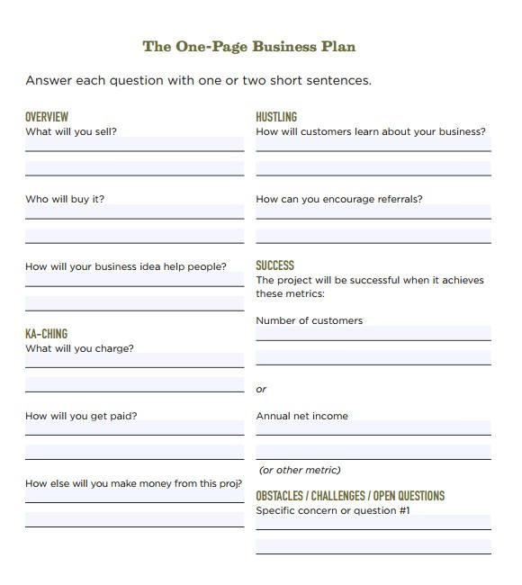 Free Llc Business Plan Template 21 Simple Business Plan Templates Sample Templates