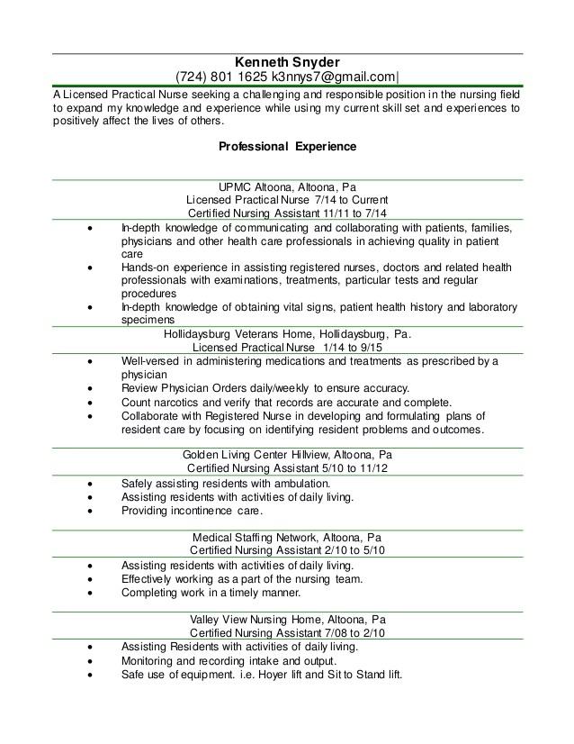 lpn nurse resume template