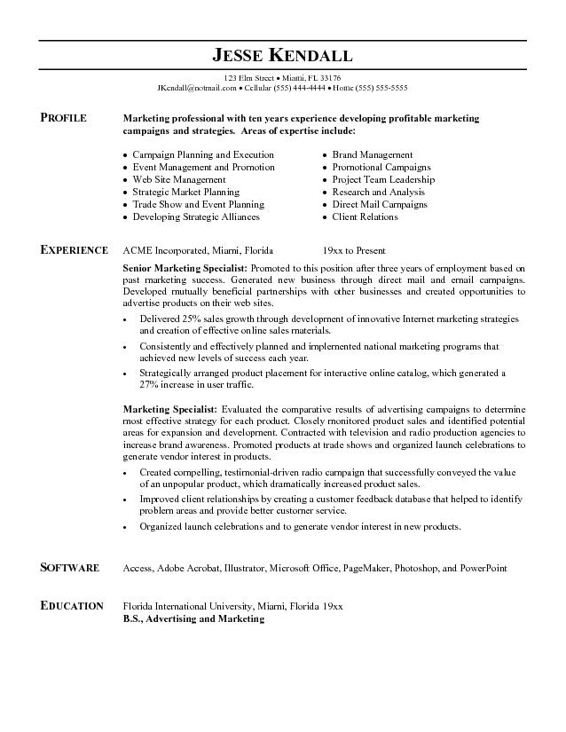 Free Marketing Resume Templates Marketing Resume Template Health Symptoms and Cure Com