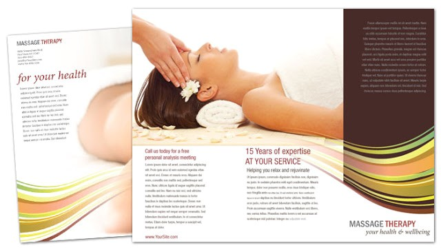 brochure templates for massage therapy