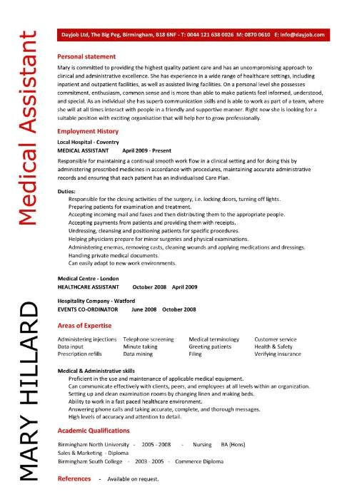 Free Medical assistant Resume Templates Medical assistant Resume Samples Template Examples Cv