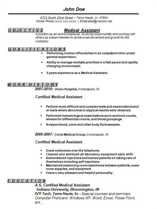 Free Medical assistant Resume Templates Sample Free Resume Templates 13 Free Documents In Word
