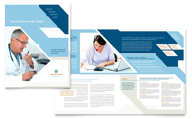 healthcare brochure templates free download medical transcription brochure template word publisher templates