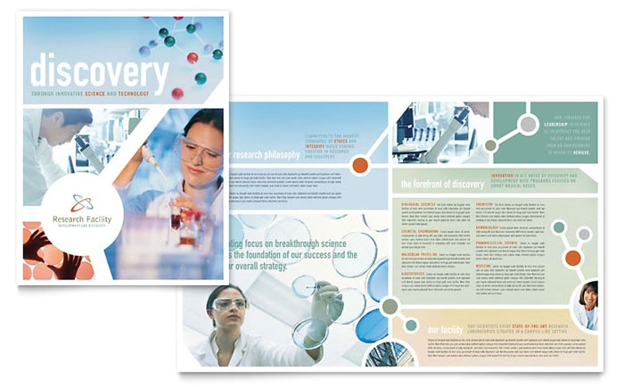 medical research brochure template design md0120101