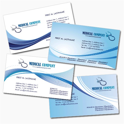 Free Medical Business Card Templates Printable 4 Medical Business Cards Psd Templates Best Business
