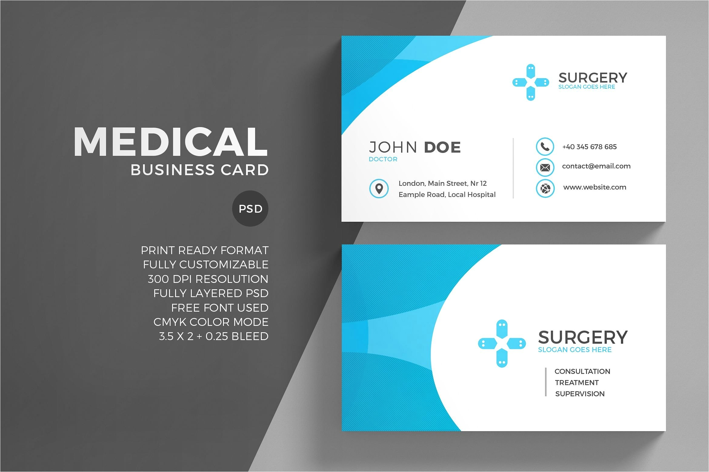 Free Medical Business Card Templates Printable Free Medical Business Card Psd Image Collections Card