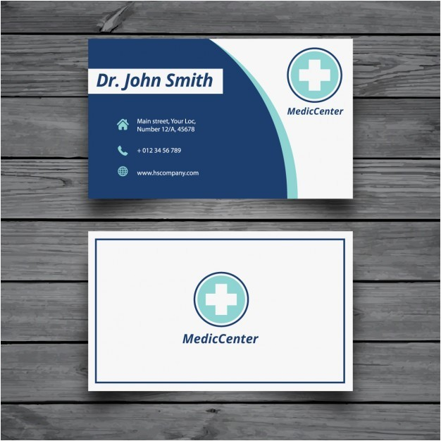 Free Medical Business Card Templates Printable Modern Medical Business Card Template Vector Free Download