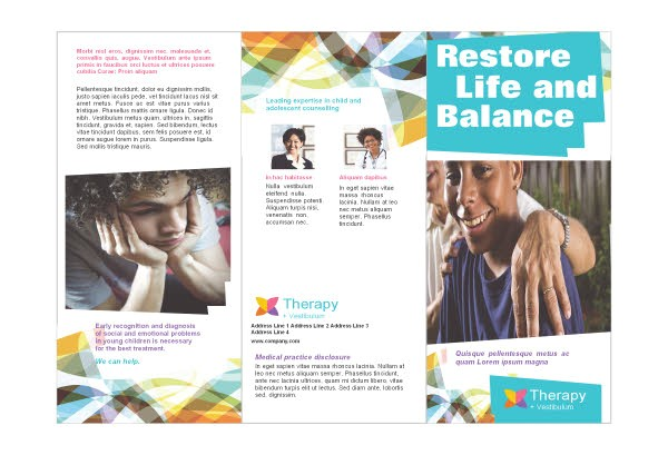 Free Mental Health Brochure Templates Adolescent Counseling Mental Health Print Template Pack