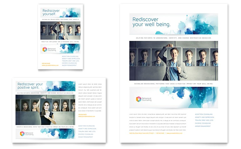 behavioral counseling flyer ad templates md0340701d