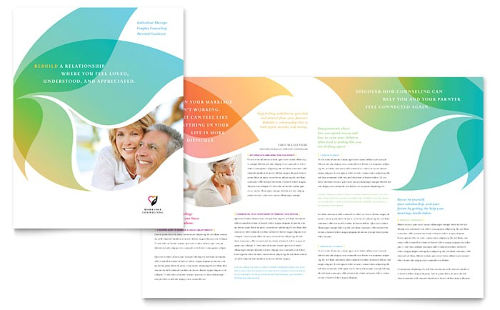 marriage counseling brochure template design md0300101