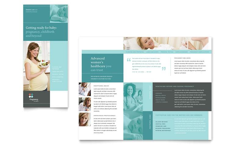 pregnancy clinic tri fold brochure templates md0272301d