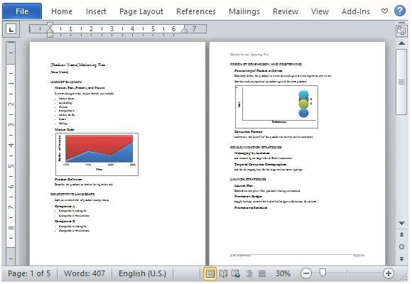 business marketing plan template microsoft word