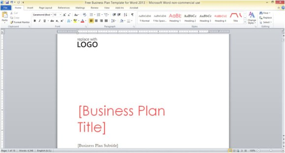 Free Microsoft Word Business Plan Template Free Business Plan Template for Word 2013