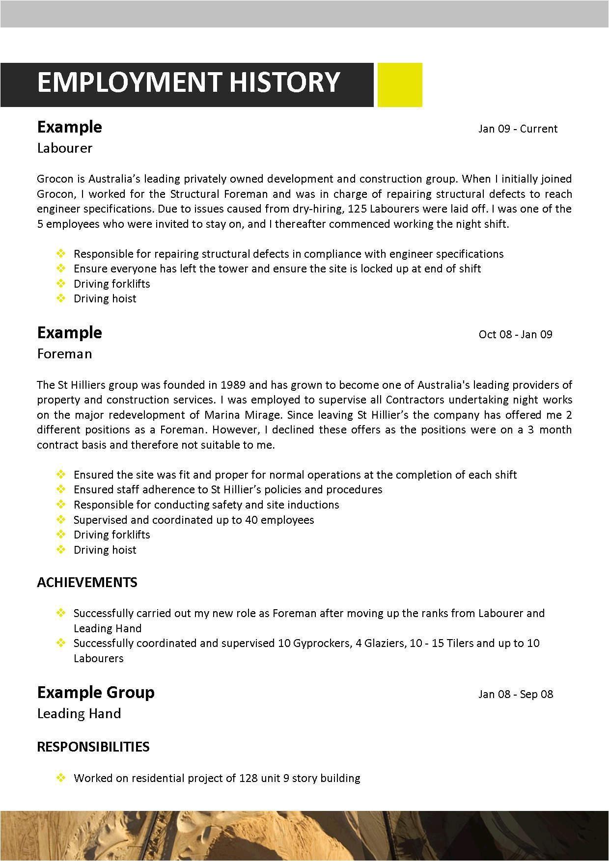 mining resumes examples