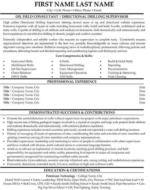 mining resume samples