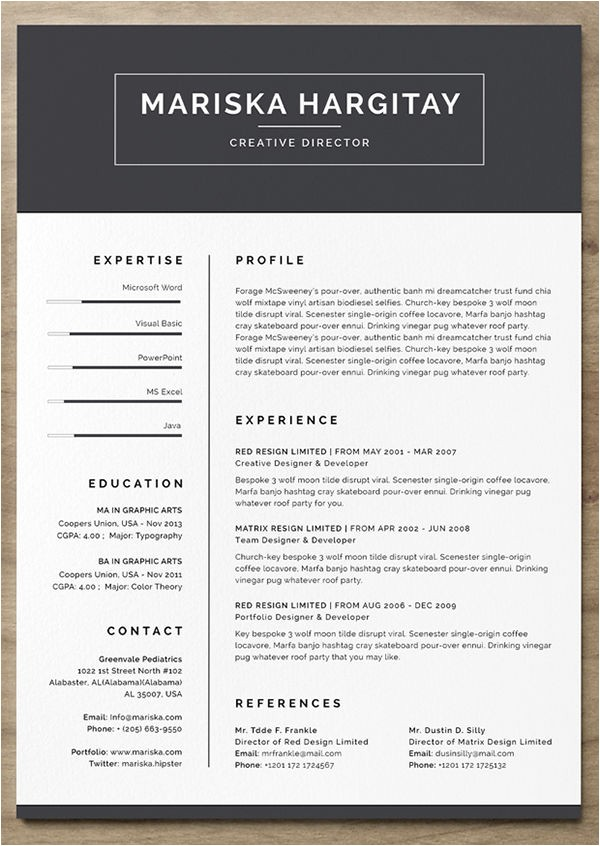 free creative resume templates download
