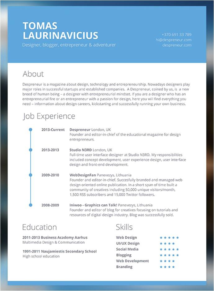 free cv resume templates
