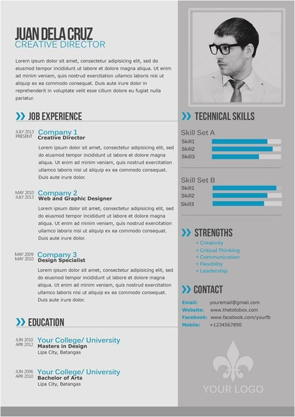 Free Modern Resume Templates Free Modern and Simple Resume Cv Psd Template thetotobox