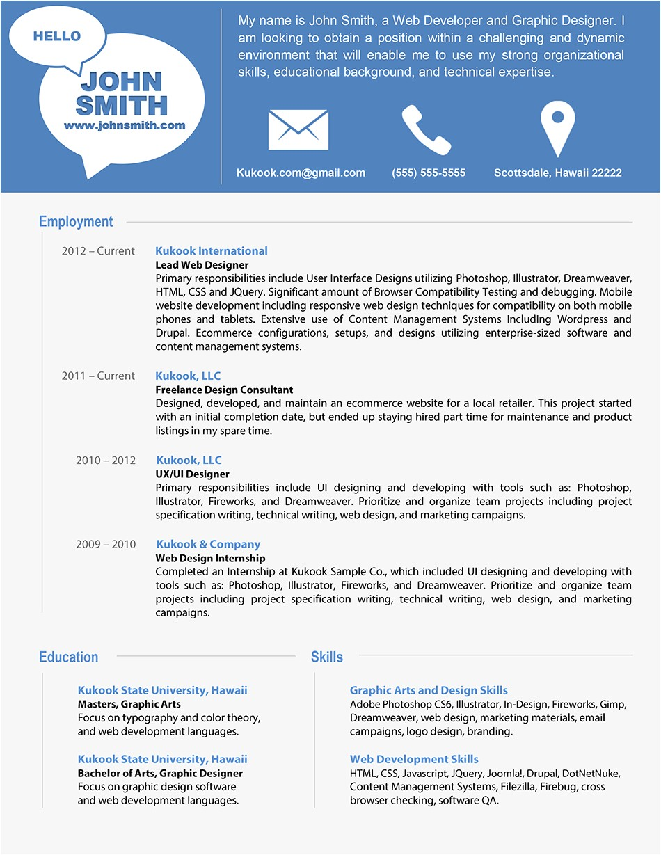 Free Modern Resume Templates Modern Resume Template Latest Information