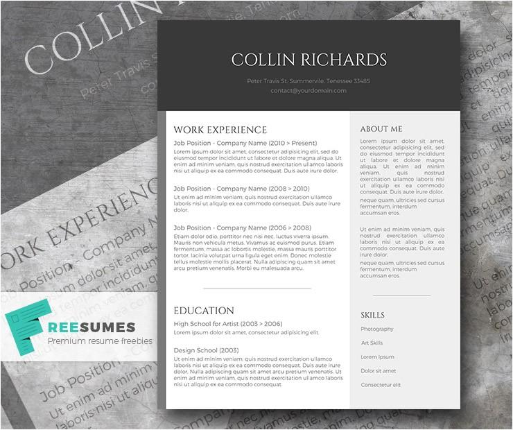 plain trendy free modern resume template