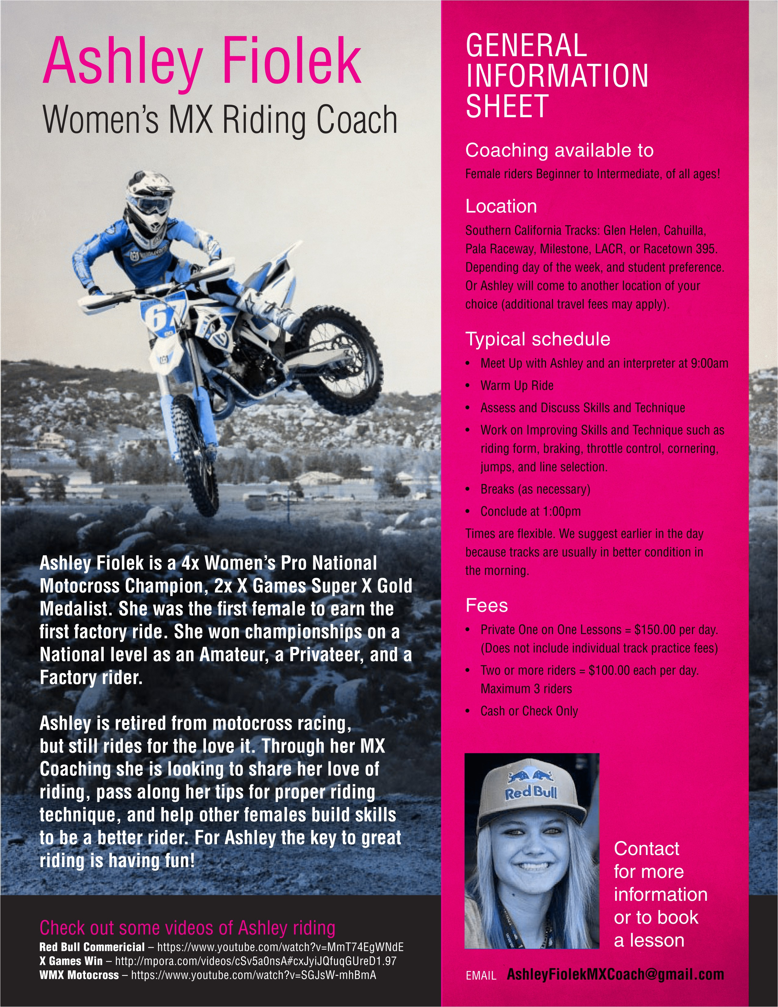 ashley fiolek mx clinic girls