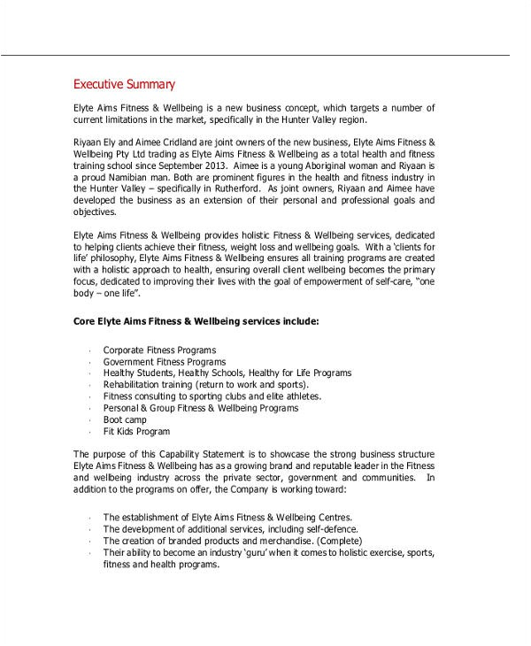 training business plan template personal business plan templates 6 free word pdf format download templates